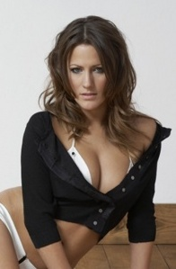 Caroline Flack bra top and knickers showing