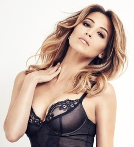 Rachel Stevens FHM Sexiest Woman of All-Time wearing sexy black lingerie