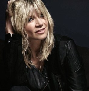 Zoe Ball looking hot in leather jacket